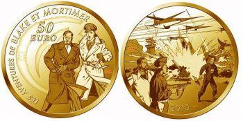 FRANCE. 50 Euro Gold PROOF 2010 Blake & Mortimer