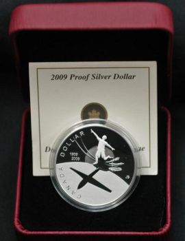 CANADA. 1 Dollar Sterling Silver Proof  2009 - 100th Anniversary of Flight in Canada