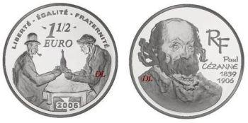 FRANCE 1 1/2 Euro Silver Proof 2006 Paul Cézanne