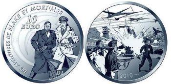 FRANCE. 10 Euro Silver PROOF 2010 Blake & Mortimer