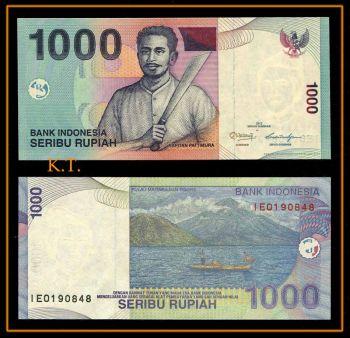 INDONESIA 1.000 RUPIAH 2012 P-141 UNC