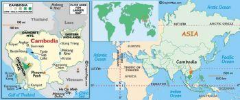 CAMBODIA 5 RIEL 1987 P 33 UNC (Yellow spots)