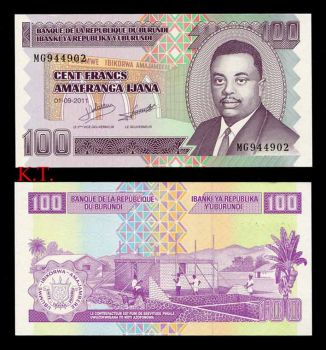 BURUNDI 100 FRANCS 2011 P-44 UNC