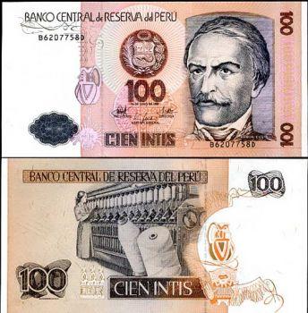 PERU 100 INTIS 1987 P 133 UNC
