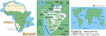 BURUNDI SET 10+20 FRANCS 2007 UNC