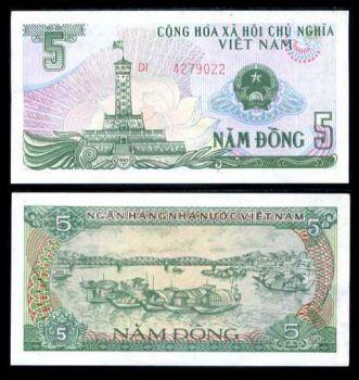 VIETNAM 5 DONG 1985 P 92 UNC
