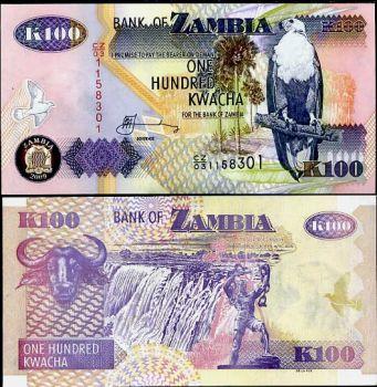 ZAMBIA 100 KWACHA 2008 UNC