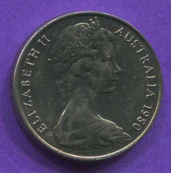 AUSTRALIA 20 CENTS 1980 AU