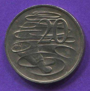 AUSTRALIA 20 CENTS 1973 AU-UNC