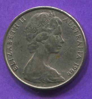 AUSTRALIA 20 CENTS 1966 AU-UNC