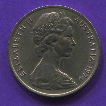 AUSTRALIA 20 CENTS 1974 UNC