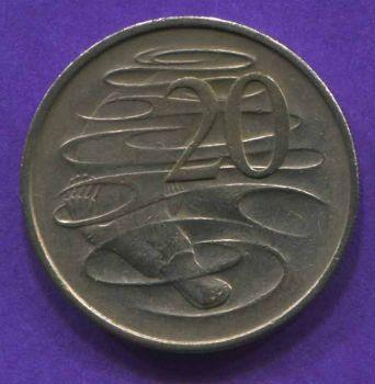 AUSTRALIA 20 CENTS 1967 AU-UNC