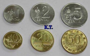 Λιθουανία σετ 6 διαφορετικά νομίσματα 1-50 centas UNC
