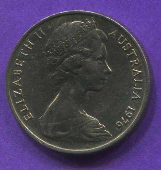 AUSTRALIA 20 CENTS 1976 AU-UNC