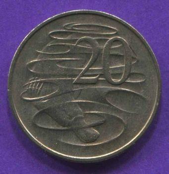 AUSTRALIA 20 CENTS 1968 AU-UNC