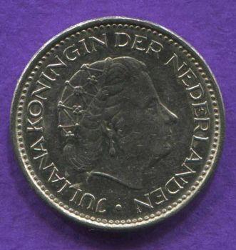 NETHERLANDS 1 GULDEN 1976 AUNC