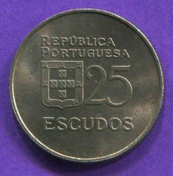 PORTUGAL 25 ESCUDOS 1978 UNC