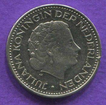 NETHERLANDS 1 GULDEN 1972 XF