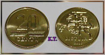 Lithuania 20 Centu 2008 NEW UNC