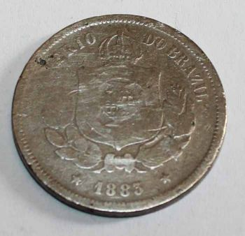 BRAZIL 100 REIS 1883