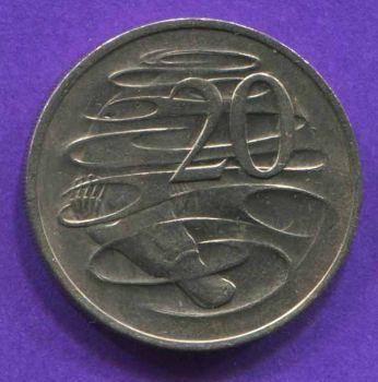 AUSTRALIA 20 CENTS 1970 AU-UNC
