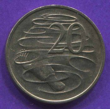 AUSTRALIA 20 CENTS 1969 AU-UNC