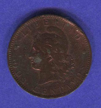 ARGENTINA 2 CENTAVOS 1893