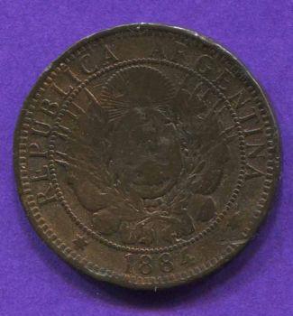 ARGENTINA 2 CENTAVOS 1884