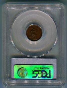 1 Λεπτό 1849 Ιωνικό πιστοποιημένο AU55