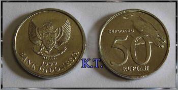 INDONESIA 50 RUPEES 1999  UNC