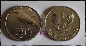 INDONESIA 200 RUPEES 2003 UNC