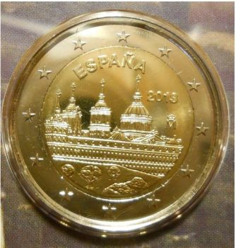 Spain 2 Euro commemorative coin 2013  Monastery and Site of the Escorial