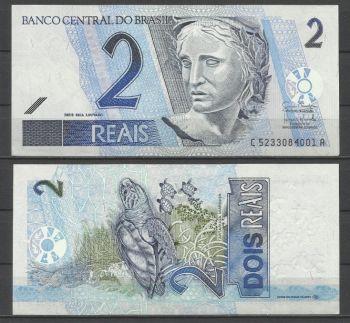 Brazil 2 Reals, P-249   2001