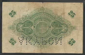 Cancelled perforation (incomplete-see scan)  Bank of Creta Drachmae 25/26.3.1915 Rare!