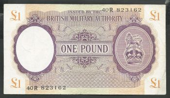 Greece WWII: British Military Authority One Pound