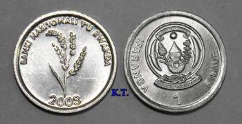 RWANDA 1 φράγκο 2003 ακυκλοφόρητο
