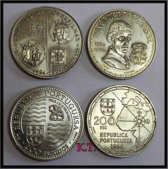 Πορτογαλλία σετ 4 νομίσματα των 200 escudos ακυκλοφόρητα