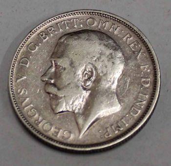 ENGLAND 1 SILVER FLORIN 1914