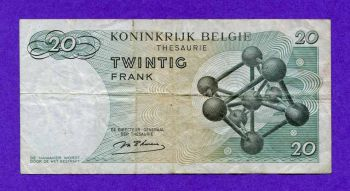 BELGIUM 20 FRANCS 1964