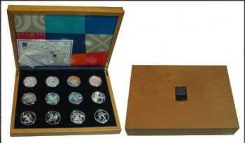 Greece 12 coins 10 Euro Silver Proof olympic games 2004