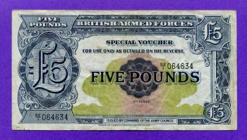 BRITISH ARMED FORCES 5 POUNDS 2nd Series ND