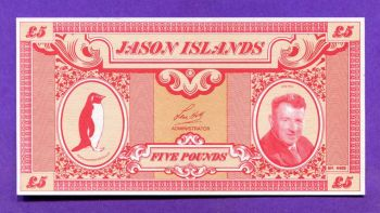ΝΗΣΙΑ JASON, 5 POUNDS ND (1978-1979) UNC