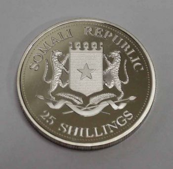 25 SHILLINGS PROOF ΕΓΧΡΩΜΟ 2004 SOMALI REPUBLIC UNC