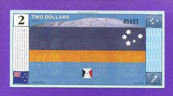 ANTARCTICA 2 DOLLARS 28-11-1999 UNC
