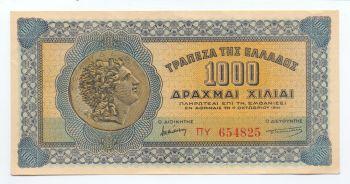 Greece 1000 Drachmas 1941, P-117