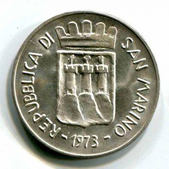 SAN MARINO 500 LIRE 1973 SILVER UNC