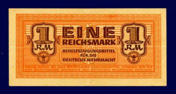 GERMANY (Ελλ.κατοχή), 1 REICHSMARK με την σβάστικα, 1942