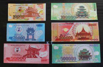 VIETNAM SET 6 HELL BANKNOTES AUNC