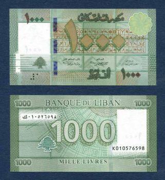 LEBANON 1000 LIVRES 2011 P-NEW UNC
