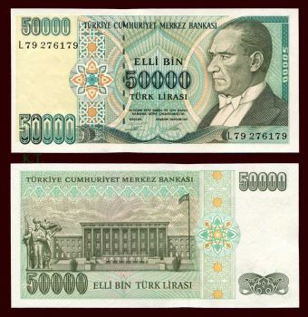 TURKEY 50.000 LIRA 1995 P-204 UNC